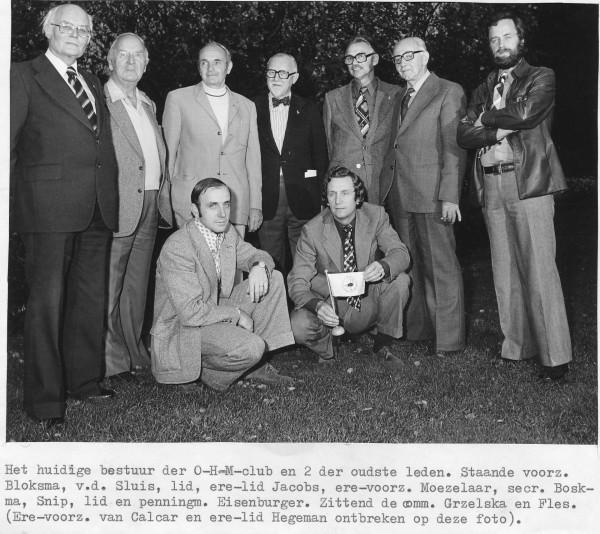 Staand: Bloksma, v.d.Sluis, Jacobs, Moezelaar, Boskma, Snip, Eisenburger. Zittend: Grzelska en Fles